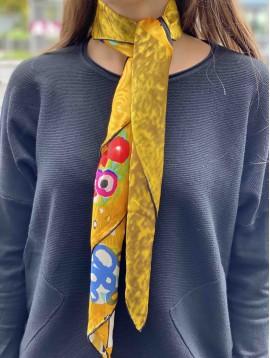 Carré 90*90 Soie impr Le baiser Gustav Klimt