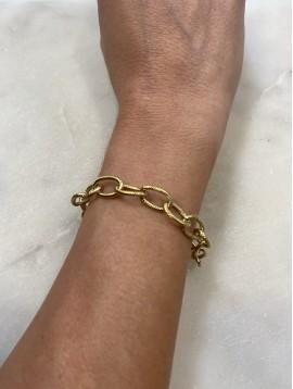 Bracelet Acier - Maillons travaillés ovales en acier