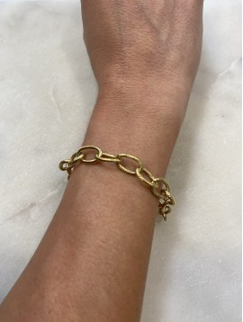 Bracelet Acier - Chaine en maille forçat plate