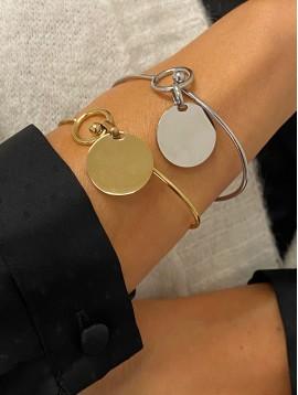 Bracelet Acier - Jonc fin élégant avec pendentif