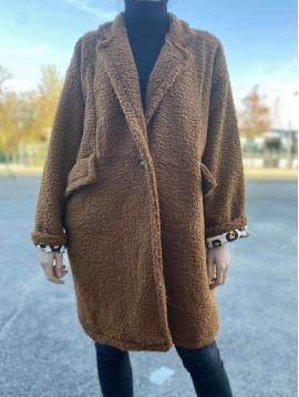 Manteau teddy bear avec bouclette et doublure