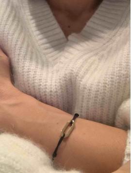 Bracelet Acier - Maillon forçat sur lien coulissant