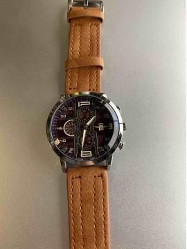Montre Homme - Bracelet détail couture avec cadran aviateur