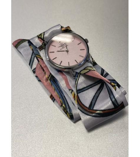 Montre - Bracelet interchangeable ruban en satin ou effet acier