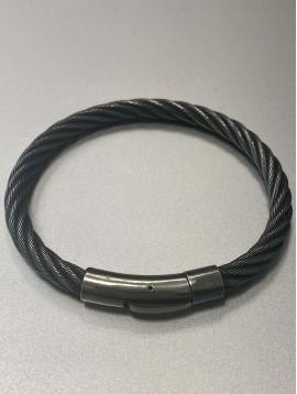 Bracelet Acier - Jonc en fil d'acier torsadés
