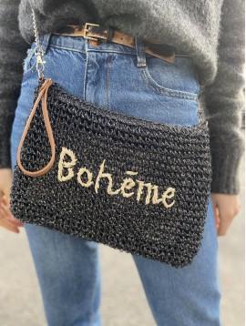 """Sac porté travers paille """"Bohème"""""""