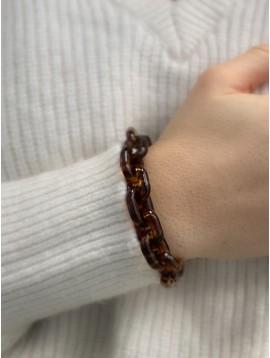 Bracelet Acier - Maille forçat en résine et fermoir acier