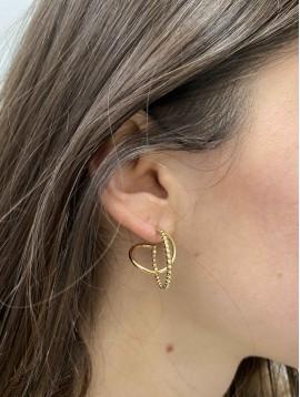 BO Percées - Anneaux perlés pendants et anneaux lisses torsadés