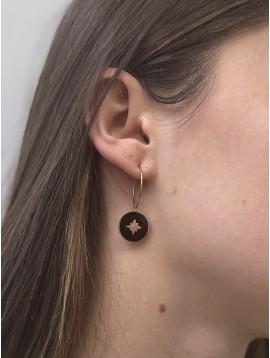 BO Percées - Pendentifs pastilles colorées centre étoile sur anneaux