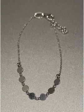 Bracelets Argent - Pastilles plates sur chaine fine