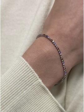 Bracelets Argent - Rivière de strass colorée