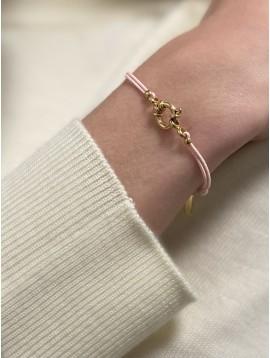 Bracelet Acier - Fermoir élégant et pastilles sur cordon coloré