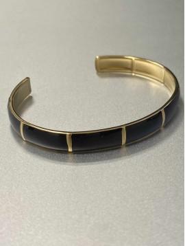 Bracelet Acier - Jonc ouvert coloré effet écaillé