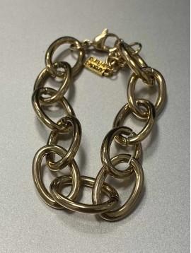 Bracelet Acier - Maillons entrelacés ovales épais