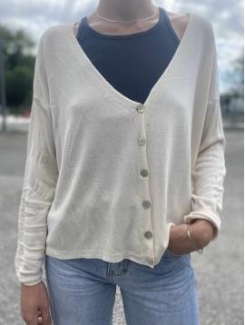 Gilet tricot fin