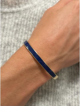 Steel Bracelet - Wide bangle with colored band