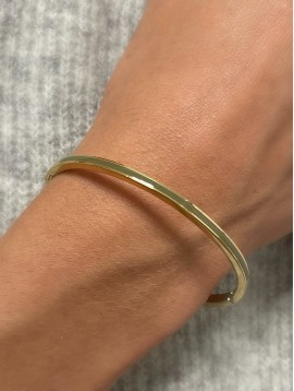 Steel Bracelet - Thin bangle with colored band