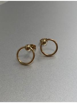 BO percées Acier - Perles acier avec anneaux pendants