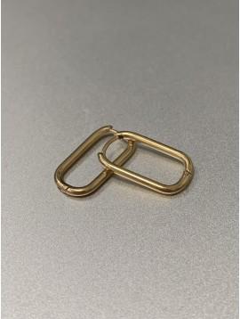 BO percées Acier - Rectangles fins arrondis pendants
