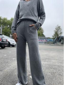 Pantalon large en maille