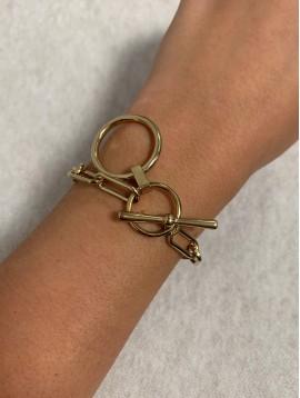 Bracelet Acier - Maillons ovales avec anneaux fermoir