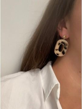 BO percées Acier- Pastilles avec ovales épais en écaille pendants