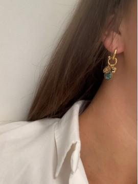 BO Percées - Anneaux pendentifs gouttes nacrées, pampilles et perles