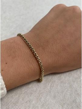 Bracelet Acier - Chaine en maille serpend