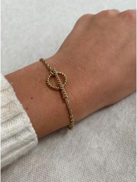 Bracelet Acier - Maillons torsadés avec fermoir pendentif