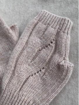 Mitaines en tricot unie laine avec reflets brillants