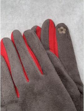 Gants peau de pêche tactile avec zip sur le devant